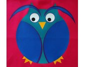 Owl Small Tote Bag Pink 13 x 13 Inches OOAK Cute Bird