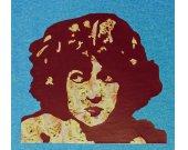 Female Portrait T-shirt Tee Light Blue Unisex Small Flapper Girl