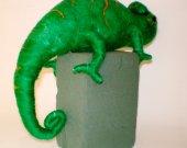 Chameleon Decorative Figur Needle Felted