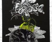 sleeping cat original engraved black clay board
