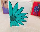 Hand-Painted Greeting Card (Daisy)