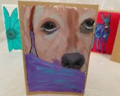 Hand-Painted Greeting Card (Dog)