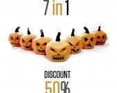 7 in 1 pack. Pumpkin Decor Halloween Decorations | Papercraft Jack-o lantern | Halloween Paper Pumpkin | DIY