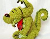 Lovely crocodile Unique gift Handmade For kids For girl For women Shelf decor Stuffed toy animal Kids Baby Room