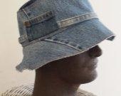 bucket hat men's upcycled denim