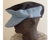 hat, Men's flat cap, upcycled, denim