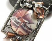 On the Gallery Wall Necklace - Jasper and Sterling Silver Necklace