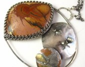 Another World Necklace - Picasso Jasper Solar System Necklace