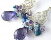 Purple Midnight Earrings - Alexandrite, Gemstone and Sterling Silver
