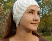 Knitted head bandage white