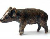 Pig, piglet, young pig, pig figurine, piglet statuette, funny piglet, bronze pig, pig 2019