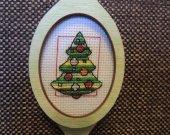 Holiday decor, Christmas decor, wall decor,home decor, Christmas gift, wood gift, cross stich embroidery