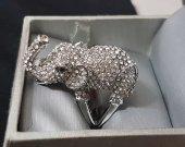 Adorable Elephant Gemstone Ring