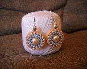 """earrings """"Blue snowflake"""""""