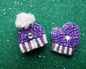 "set of 2 brooches ""Winter"""