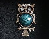Owl Brooch or Fridge Magnet