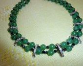 jade bead necklace handmade