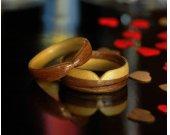 Couple Rings  Wood Ring Set  Handmade Maple & Walnut Bentwood Rings  Bentwood  Couple Ring Set  Valentine Gift  Couples Gift