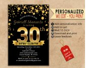 Birthday Invitations. Personalized. Invitations. Birthday card. Digital file. Template