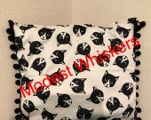 Black White and Red Kitty Bed