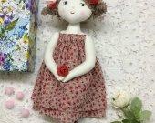 Handmade dolls , toys , textile doll home decor children room decorations Artist doll, heirloom doll, Rag Doll, Art Doll