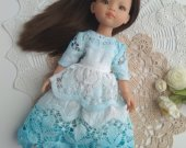 Doll clothes , doll dress, boho style, handmade doll, paola reina doll, effner little darling doll