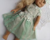 Custom Doll Dress Custom Doll Gown Fits American Girl Party Dress  Custom Doll Clothes AG dress