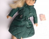 "Fits 18"" Dolls // AG Doll Jacket, AG Doll Coat, American Girl Jacket, Doll Hooded Jacket, AG Winter Jacket, American girl"