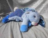 Blue Jeans Bunny plush for boys stuffed animal rabbit HANDMADE unique nursery decor baby shower gift
