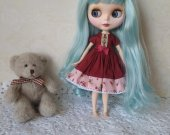 Blythe dress , Blythe clothes , Blythe , Blythe outfit , dress , handmade dress , handmade ,pullip dress