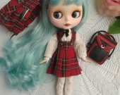Blythes doll clothes , blythes dress , blythe outfit , school uniform