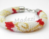 Seed bead bracelet, colored bracelet, crochet bracelet, handmade bracelet. Beaded gift for women