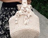 Posh handmade bag, posh bag,  ecru bags,