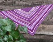 Kerchief  crocheted purple glitter shawl