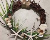 Sea Wreath, Beach Decor Wreath, Shell Wreath, SeaShell Wreath, Handmade Shell Wreath, Beach Wedding Decor, Coastal Decor
