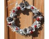 "White Christmas Wreaths, Door Wreaths, Wall Decor, Handmade Wreath, Frost Theme, ""Icy Morning"""
