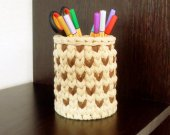 Knitted basket for pencil