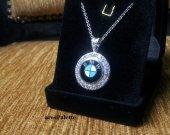BMW Halskette_BMW Swarovski Necklace_Handmade_925 silver