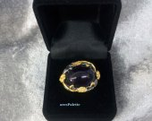 Amethyst Ring- Handmade Oval Amethyst Ring-Special Design 13.01 ct