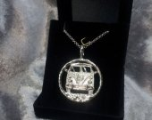 Bus Necklace-Sterling Silver Camp Bus Necklace