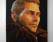 Handmade Cullen, Dragon Age portrait, Cullen wall art