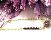 Druzy Beaded Bracelet, Gold Druzy Bracelet, Druzy Geode Bracelet, Druzy Grape Agate, Druzy Crystal Bracelet, Beaded Druzy Bracelet, Gift