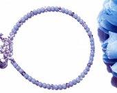 Angelite Ankle Bracelet, Anklet Bracelet for Women, Anklet for Women, Anklet Bracelet, Angelite Jewelry, Gemstone Anklet, Blue Anklet, Gift