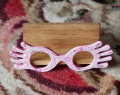 Luna Lovegood Inspired Wooden Spectrespecs Desktop Business Card Holder