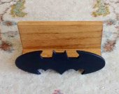 Superohero Inspired Batman Wooden Desktop Business Card Holder