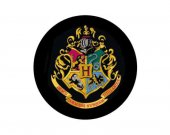 Harry Potter Inspired Handmade Hogwarts School Crest Wooden Drink Coaster