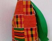 Green African Kente Print Handmade Tote