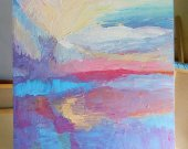 Big Abstract painting, Original Textured Painting, Sky & Sea, Nature,  Acrylic On Canvas