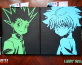 Hunter X Hunter Killua Zoldyck And Gon Freecss 100% Handmade Acrylic On Canvas
