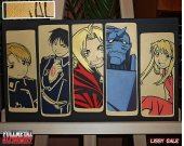 Fullmetal alchemist. 100% Handmade Acrylic On Canvas.